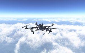 Maquetas de aviones para principiantes, dron sobrevolando el cielo