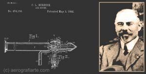 Plano de la patente de aerógrafo y su autor, Charles L. Burdick