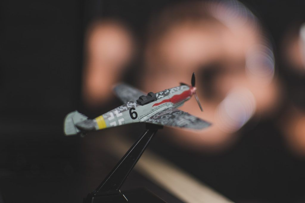 Maqueta de avión de combate