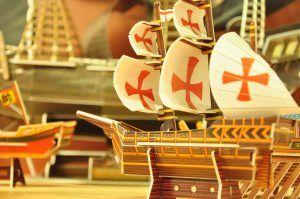 Maqueta de barco antiguo para principiantes