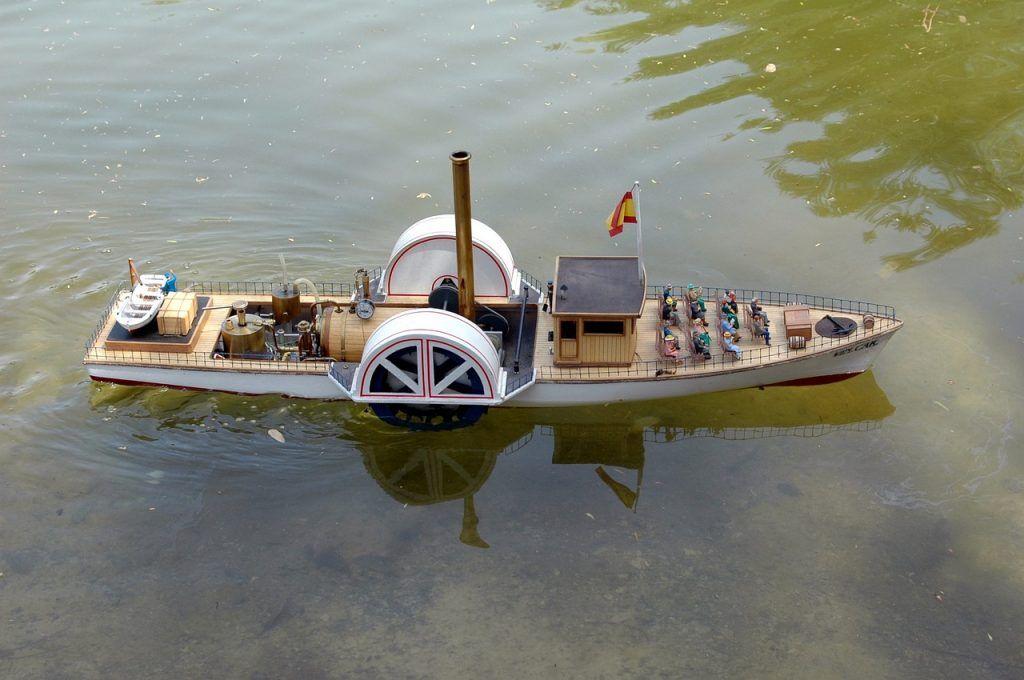 Maqueta de barco de vapor para principiantes