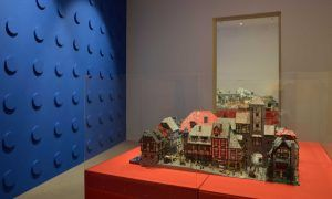 Pueblo realizado con maquetas de lego